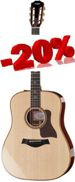 GUITARE ELECTRO-ACOUSTIQUE 710E DREADNOUGHT TAYLOR