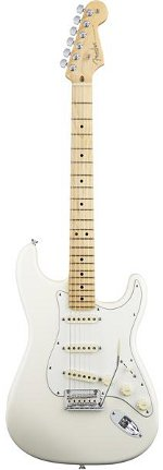 STRATOCASTER AMERICAN STANDARD OLYMPIC WHITE TOUCHE MAPLE FENDER USA