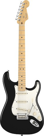 STRATOCASTER AMERICAN STANDARD BLACK TOUCHE MAPLE FENDER USA