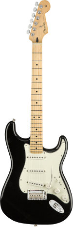 STRATOCASTER PLAYER BLACK TOUCHE ERABLE