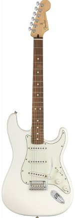 STRATOCASTER PLAYER POLAR WHITE TOUCHE PAU FERRO