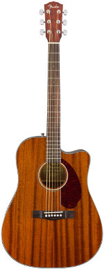 GUITARE ELECTRO-ACOUSTIQUE CD 140 SCE MAHOGANY NATURAL + ETUI FENDER