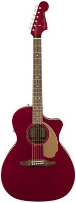 GUITARE ELECTRO-ACOUSTIQUE NEWPORTER PLAYER CANDY APPLE RED FENDER