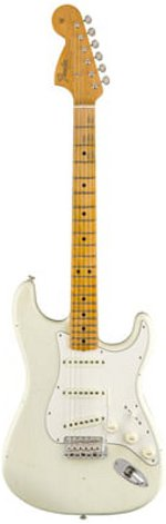 STRATOCASTER JIMI HENDRIX VOODOO CHILD STRAT RELIC OLYMPIC WHITE