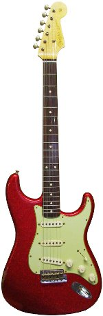 STRATOCASTER 1960 RELIC RED SPARKLE FENDER CUSTOM SHOP