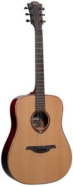 GUITARE ACOUSTIQUE T100D Tramontane Dreadnought - Naturelle LAG