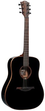 GUITARE ACOUSTIQUE T100D-BLK Tramontane Dreadnought - Noir Brillant LAG