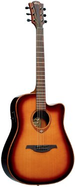 GUITARE ELECTRO-ACOUSTIQUE T100DCE-BRS TRAMONTANE BROWN SHADOW