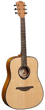 GUITARE ACOUSTIQUE T66D  TRAMONTANE Dreadnought naturel brillant LAG