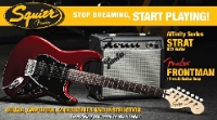 PACK AFFINITY STRATOCASTER HSS CANDY APPLE RED + FRONTMAN FENDER 15G