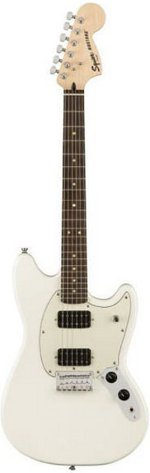 MUSTANG FSR BULLET HH OLYMPIC WHITE SQUIER