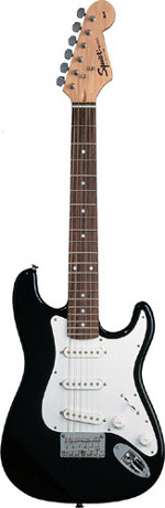 STRATOCASTER MINI BLACK SQUIER