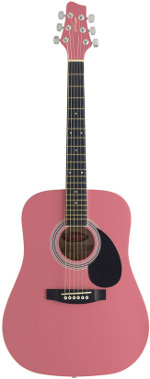 GUITARE ACOUSTIQUE SW 201 PK Pink 3/4 STAGG