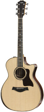 GUITARE ELECTRO-ACOUSTIQUE 814CE DELUXE 2017 GRAND AUDITORIUM TAYLOR