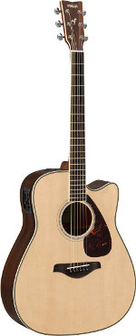GUITARE ELECTRO-ACOUSTIQUE FGX830CNT NATURAL CUTAWAY YAMAHA